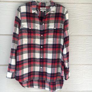 Madewell Flannel Classic Ex-Boyfriend Plaid Shirt